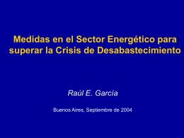 Restricciones de Gas Natural 2004 Impactos sobre
