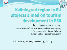 Sustainable tourism in Kaliningrad region