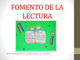 FOMENTO DE LA LECTURA 2º TRIMESTRE