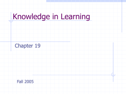 Knowledge in Learning - Arizona State University