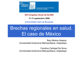 Equidad e inversión en salud en México
