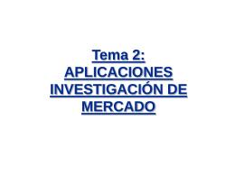 Tema 2: Aplicaciones Investigación