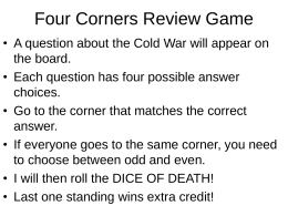 Four Corners Review Game