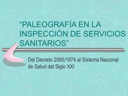 Paleografía en la Inspección de Servicios