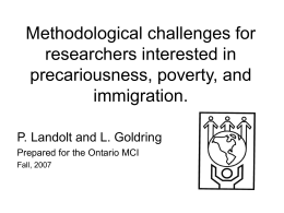 Methodological challenges for researchers