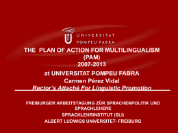 Memòria 2006 - Pompeu Fabra University