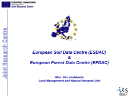 JOINT RESEARCH CENTRE - European Soil Database