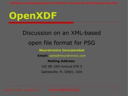 OpenXDF - PhysioNet