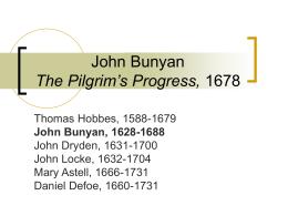 John Bunyan 1628-1688 - University of California,