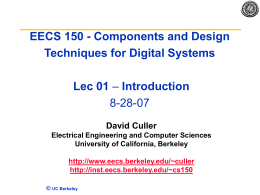 Lecture1 Introduction - University of California,