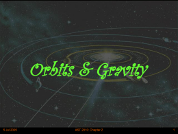 Orbits and Gravity - Wayne State University