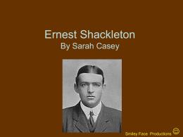 Ernest Shackleton By Sarah Casey - Below Zero -