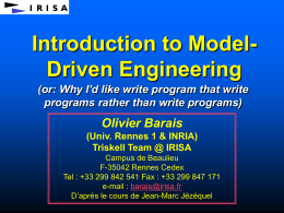 Model-Driven Engineering with Contracts, Patterns,