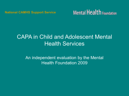 CAPA in Child and Adolescent Mental Health
