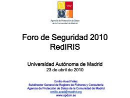 Presentación de PowerPoint - RedIRIS