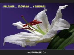 RELAJATE - ESCUCHA Y ADMIRA