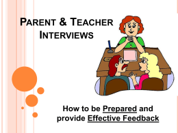 Parent & Teacher Interviews