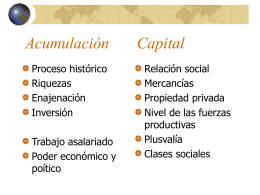 Acumulación Capital
