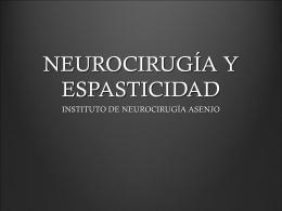 NEUROCIRUGÍA Y ESPASTICIDAD
