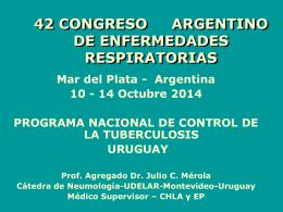 El control de la tuberculosis en Uruguay 25 años