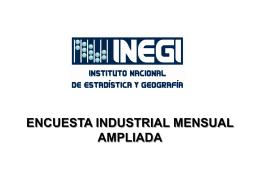 Encuesta industrial mensual ampliada
