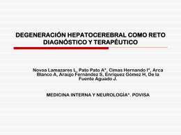 DEGENERACIÓN HEPATOCEREBRAL COMO RETO DIAGNÓSTICO
