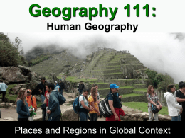 Geography 101 - People Pages: Faculty and Staff