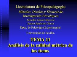 La medición en Psicología: Implicaciones