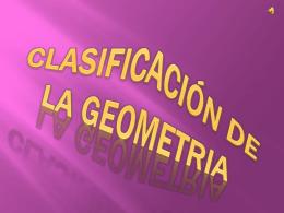 CLASIFICACIÓN DE LA GEOMETRIA