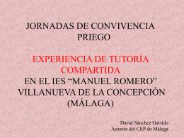 PROYECTO DE TUTORÍA COMPARTIDA