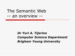The Semantic Web -