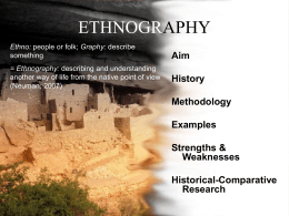 Ethnography - University of Idaho