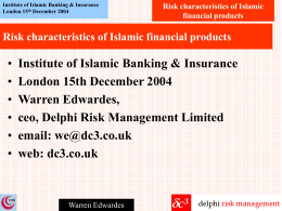 Risk management in Islamic vs. conventional