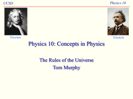 Physics 10 : Concepts in Physics
