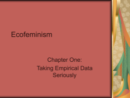 Ecofeminism - University of West Georgia