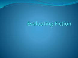 Evaluating Fiction