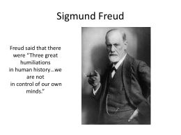 Freud - University of Idaho
