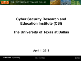 Language-based Security Dr. Kevin W. Hamlen