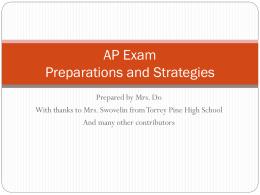 AP Exam Preparations