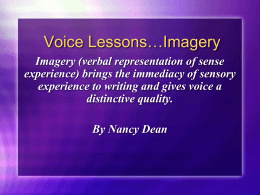 Voice Lessons…Imagery