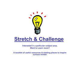 Stretch & Challenge - St Mary`s Church of England
