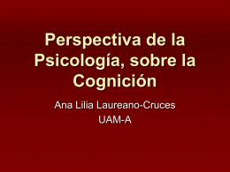 Perspectiva de la Psicología, sobre la Cognición