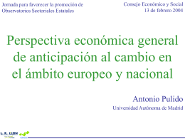 Perspectiva económica general de anticipación al