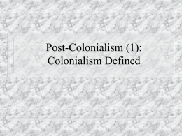 Postcolonial Literature and Criticism