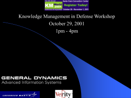 Knowledge Management in Defense: Information