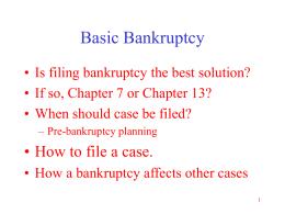 Basic Bankruptcy - Illinois Legal Aid