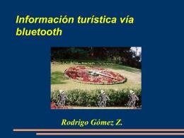 Información turística vía bluetooth