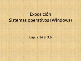 Exposición Sistemas operativos (Windows)