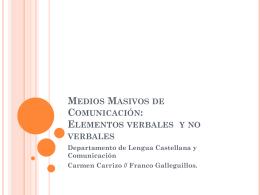 Medios Masivos de Comunicación: Elementos verbales
