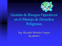 Gestión de Riesgos Operativos en el Manejo de